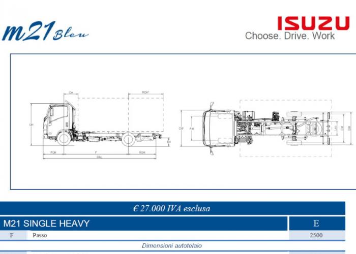 Listino Isuzu M21 Single Heavy